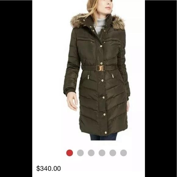 Michael Kors Jackets & Blazers - Michael Kors belted puffer coat dark moss XS,